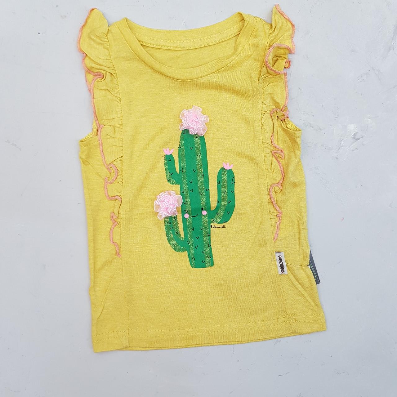 Модная летняя футболка для девочки кактус