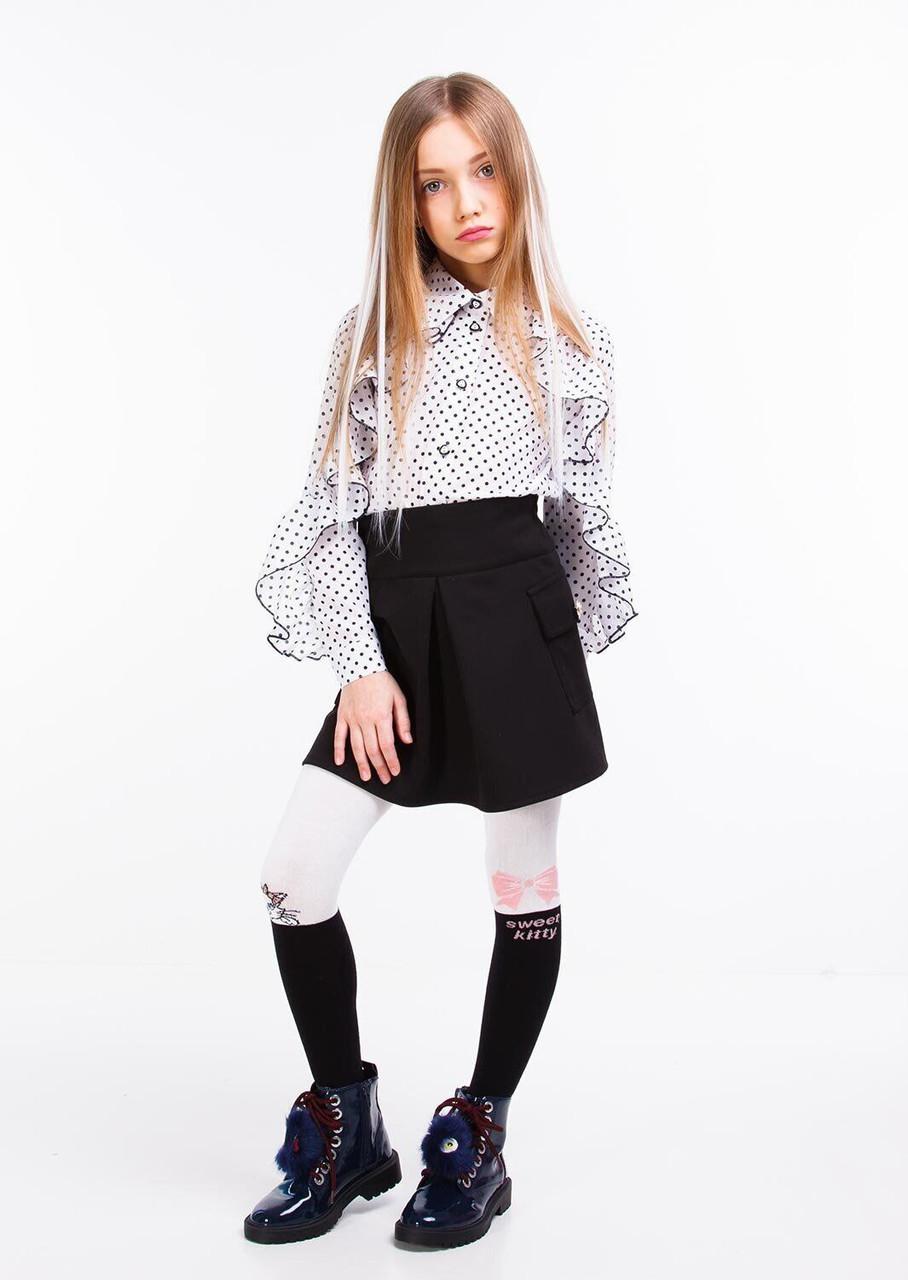 Трикотажна шкільна спідниця для дівчинки sofia shelest