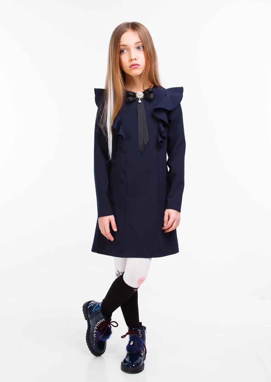 Шкільне плаття для дівчинки синє