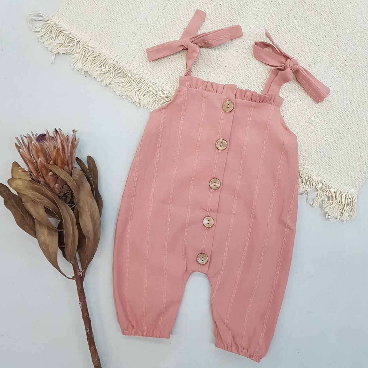 Ромпер для девочки розовый