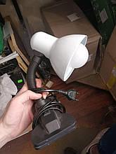 Лампа настільна на прищіпці, біла, нова