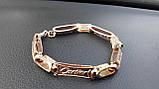 Серебряный браслет Картье с позолотой, 21 см., 30 гр., фото 3