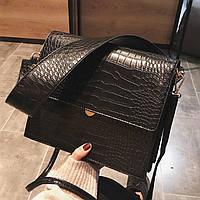 Женская мини сумка под рептилию, фото 1