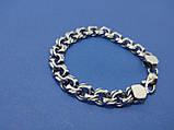 Срібний браслет московський Бісмарк, 22,5 см, 40 гр., фото 2