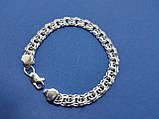 Срібний браслет московський Бісмарк, 22,5 см, 40 гр., фото 3
