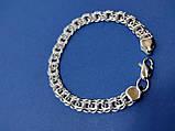 Серебряный браслет московский Бисмарк, 22,5 см, 40 гр., фото 4