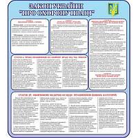 Охрана труда в Украине. Стенд информационный