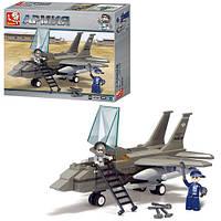 Конструктор SLUBAN M38-B7200  военный самолет, фигурки 2шт, 142дет, в кор-ке, 28,5-24-5,5см