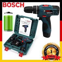 ШУРУПОВЕРТ BOSCH TSR12-2LI (12V 3AH LI-ION) аккумуляторный шуруповёрт Бош | Ударный шуруповерт