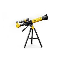 Телескоп детский Fan Tous настольный 3 степени увеличения Желтый.