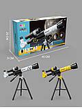 Телескоп дитячий Fan Tous настільний 3 ступеня збільшення Жовтий., фото 3