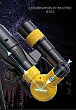 Телескоп дитячий Fan Tous настільний 3 ступеня збільшення Жовтий., фото 6
