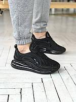 Мужские кроссовки Nike Air Max 720 Black man Найк Аир Макс черные осень Вьетнам 2021