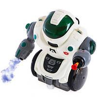 Игрушка Робот Выпускает Пар и Выстреливает Патроном на Присоске