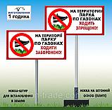 Знак табличка Паркування на території навчального закладу заборонена NO PARKING на ніжці тримачі, фото 2