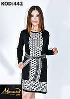 Платье-туника ОРНАМЕНТ вязка для девушек размер 42-48,цвет микс в упаковке