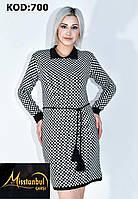 Платье-туника ШАХМАТКА вязка для девушек размер 42-48,цвет микс в упаковке