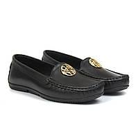 Мокасины кожаные черные летняя женская обувь Ornella Black Leather by Rosso Avangard цвет Инк
