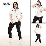 Жіночий брендовий спортивний трикотажний костюм, (Туреччина ); Розміри: 50,52,54,56 ;3 кольори, фото 3