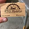 Виготовлення дерев'яних візиток з фанери з лазерним гравіруванням на замовлення, фото 5
