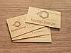 Виготовлення дерев'яних візиток з фанери з лазерним гравіруванням на замовлення, фото 4