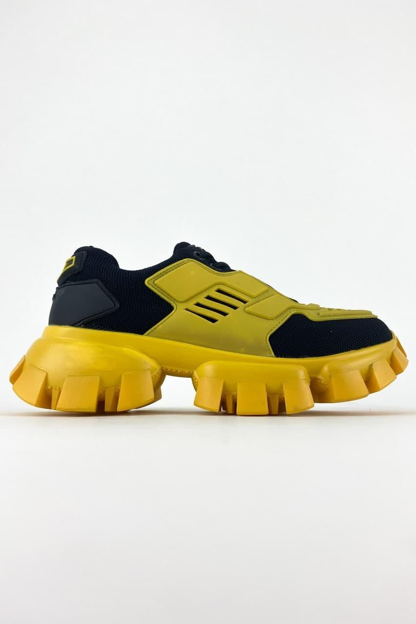 Жіночі кросівки Prada Cloudbust Thunder Black/Yellow (Жовтий Чорний) C-1748 якісні оригінальні кроси