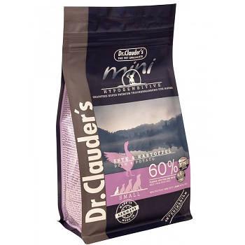 Dr.Clauder's Mini Hyposensitive Duck & Potatoe DOG (0.4 кг) корм для собак малих і мініатюрних порід