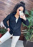 Актуальна стильна жіноча сорочка з вельвету різні кольори Rnor780