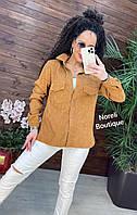 Сорочка жіноча стильна з вельвету з кишенями різні кольори Rnor781