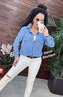 Сорочка жіноча трендова з вельвету вільного крою з кишенями різні кольори Rnor782