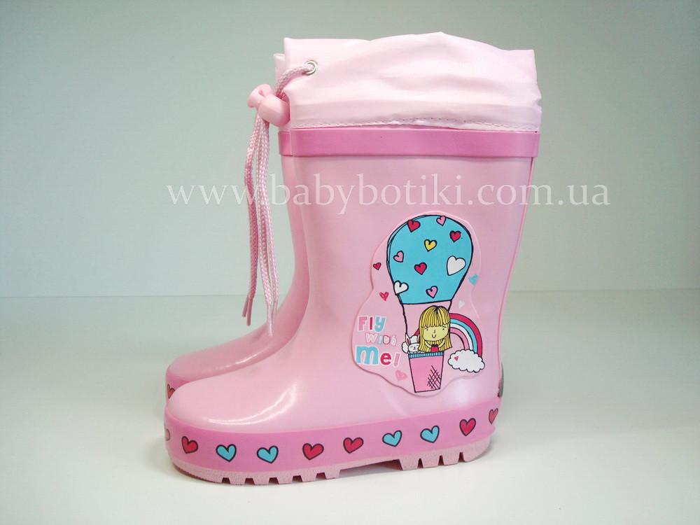 Дитячі гумові чоботи для дівчаток Bi&Ki biki. Розміри 25, 26, 27, 28, 30.