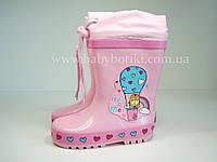 Дитячі гумові чоботи для дівчаток Bi&Ki biki. Розміри 25, 26, 27, 28, 30., фото 1