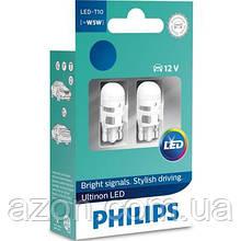 Автолампа Philips W5W Ultinon LED, 4000K 12V, 2шт/бл. (11961ULW4X2)