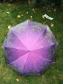 Зонт женский сиреневый с орнаментом арт.176-5