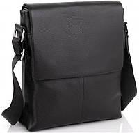 Чоловіча шкіряна сумка Borsa Leather Чорна, фото 1