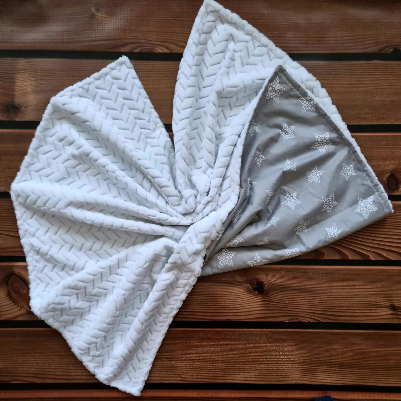 Пледы для новорожденных из польского хлопка и мягкого плюша
