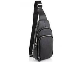 Кожаный мужской слинг рюкзак в классическом стиле VINTAGE LD84-2H