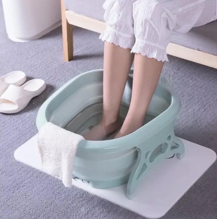 Масажна складна ванночка для ніг Supretto | Гидромассажер для ніг