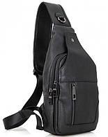 Мужской кожаный рюкзак-слинг на одно плечо VL06A