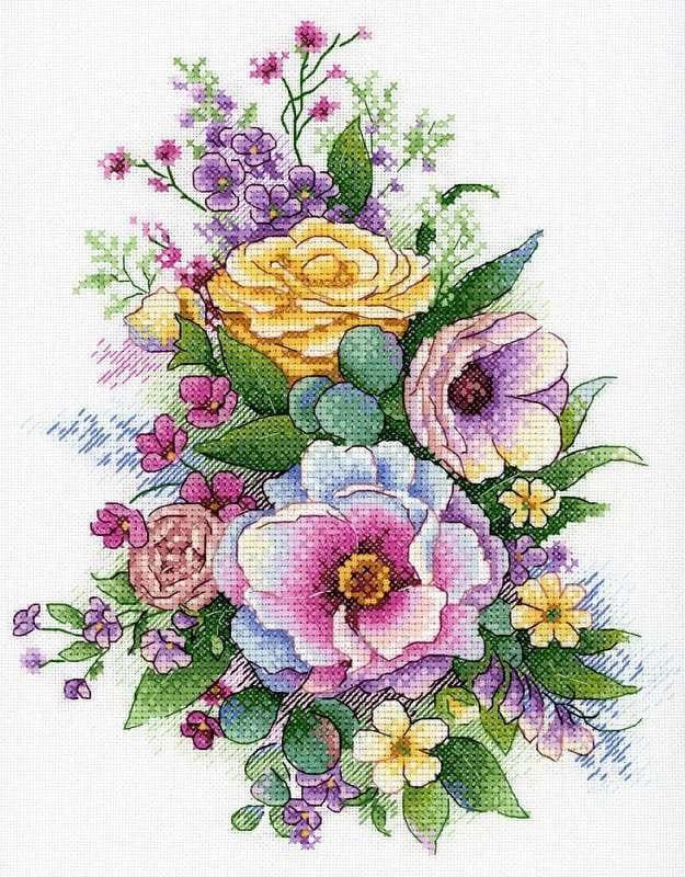 Набір для вишивки хрестом М.П.Студія А-040 «Лілова весна»