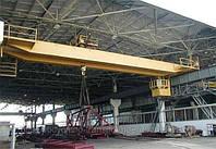 Электрический двухбалочный  мостовой кран г/п 10 т изготовление.