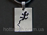 Кулон ящерица Саламандра металлический