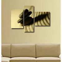 """Модульная картина на холсте. Триптих для декора интерьера гостиной """"Три камня"""""""