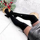 Сапоги женские ботфорты Elias черные 2803 ДЕМИ, фото 8