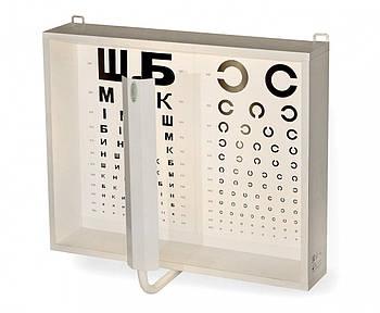 Освітлювач таблиць для перевірки зору АР-1