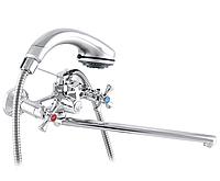 Смеситель двухвентильный в ванную ZERIX DML 827 поворотный кран смеситель для ванной из силуминового сплава
