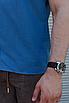 Льняная рубашка синего цвета с коротким рукавом | 100% лён, фото 7