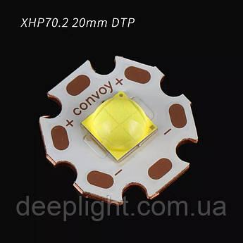 Світлодіод ОРИГІНАЛ Cree XHP70.2 12V 30W 6000K для ліхтарів,фар,світильників мідна підкладка DTP 20MM