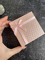 Подарочная упаковка, коробка под украшения бижутерию розовый