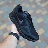 Мужские зимние кроссовки Nike  Flykit Racer Чёрные